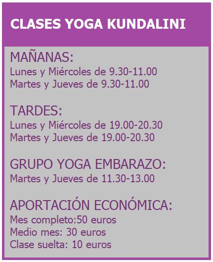 clases yoga kundalini